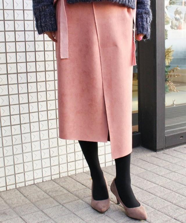 MODE ROBE:アシンメトリースウェードスカート