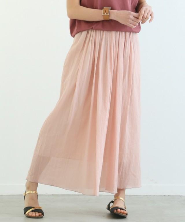 Rouge vif / ギャザーロングスカート