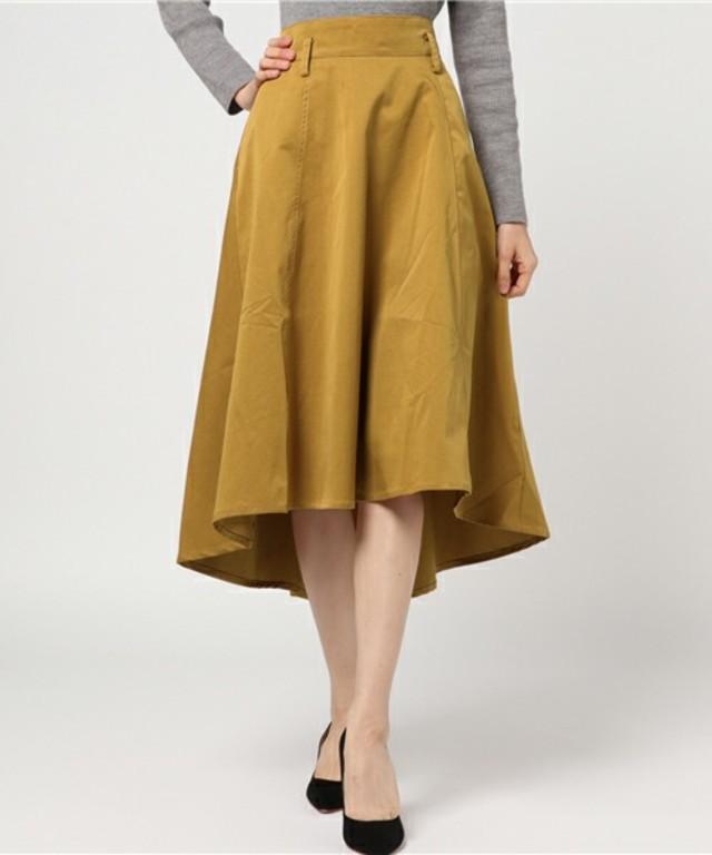 グログランフレアスカート