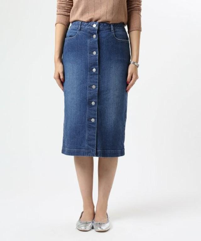 FRAMeWORK フロントボタン デニムスカート