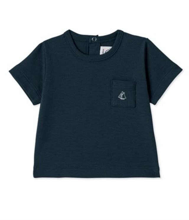 プチバトー クルーネック半袖Tシャツ