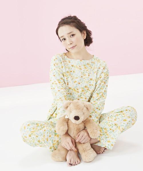 パイルお花畑プリント パジャマ