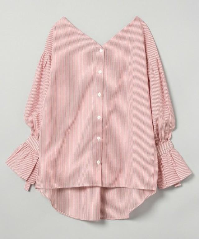 ストライプVシャツ