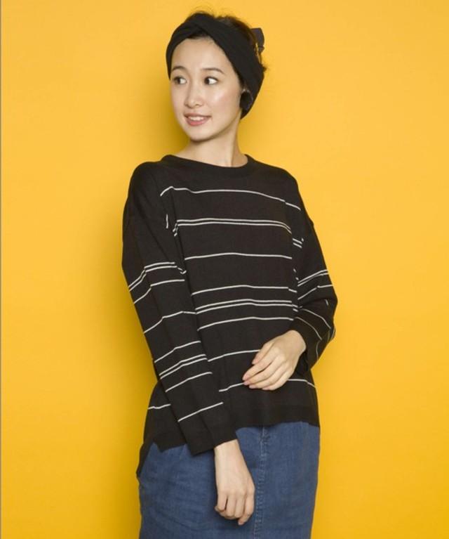 【PLAIN CLOTHING】ラインボーダーニット
