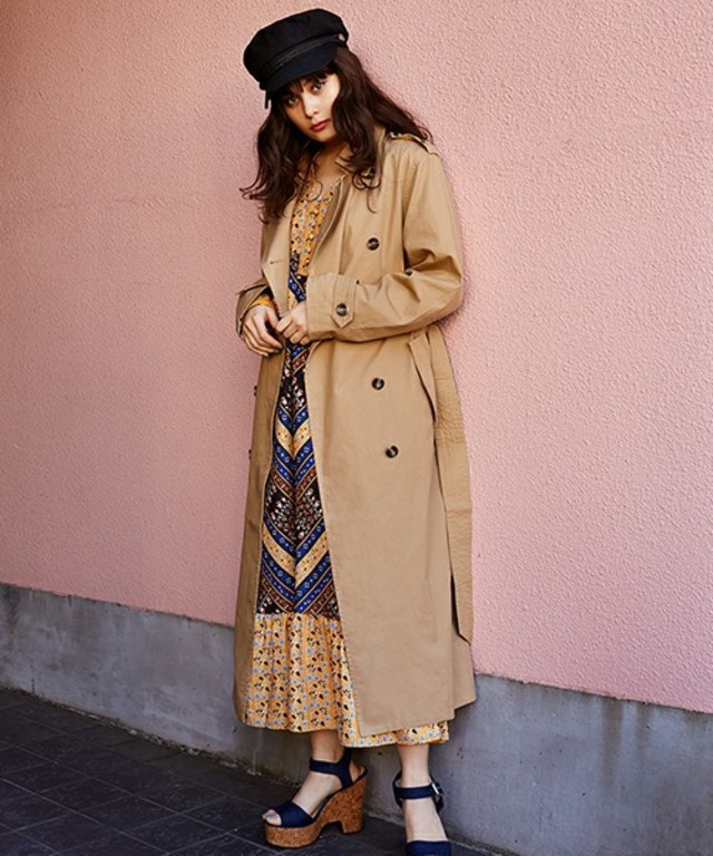 SLY  EDIE LONG TRENCH COAT
