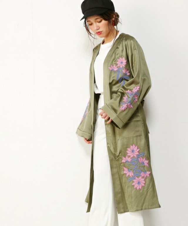 SLY  CLEMATIS EMBROIDERY GOWN