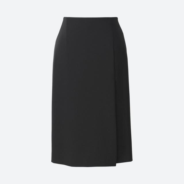 ユニクロ ハイウエストドレープラップスカート(丈60~62cm)