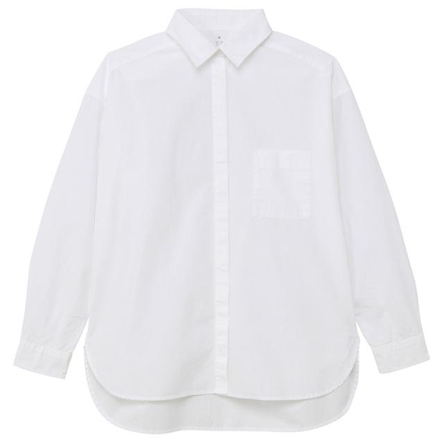 オーガニックコットン洗いざらしビッグシャツ