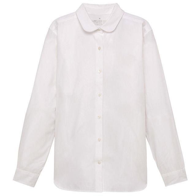 オーガニックコットンブロード丸襟シャツ