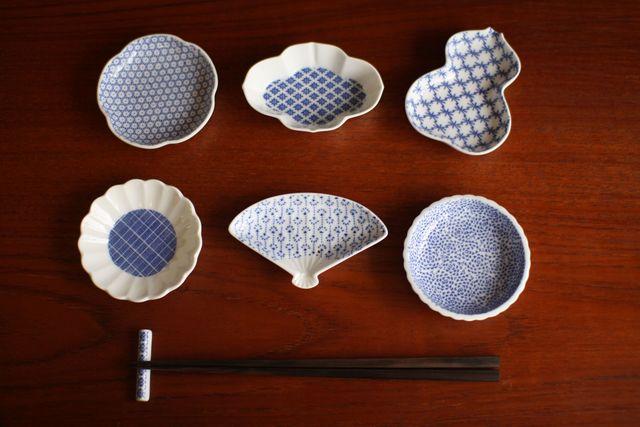 ④東屋/豆皿 印判 たんぽぽ