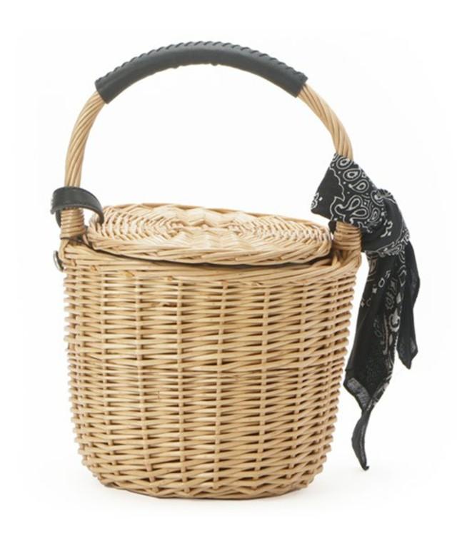 kakatoo(カカトゥ) バンダナ付き柳バケツ型かごバッグ