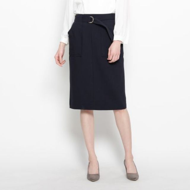 トラッドテイストボックスタイトスカート