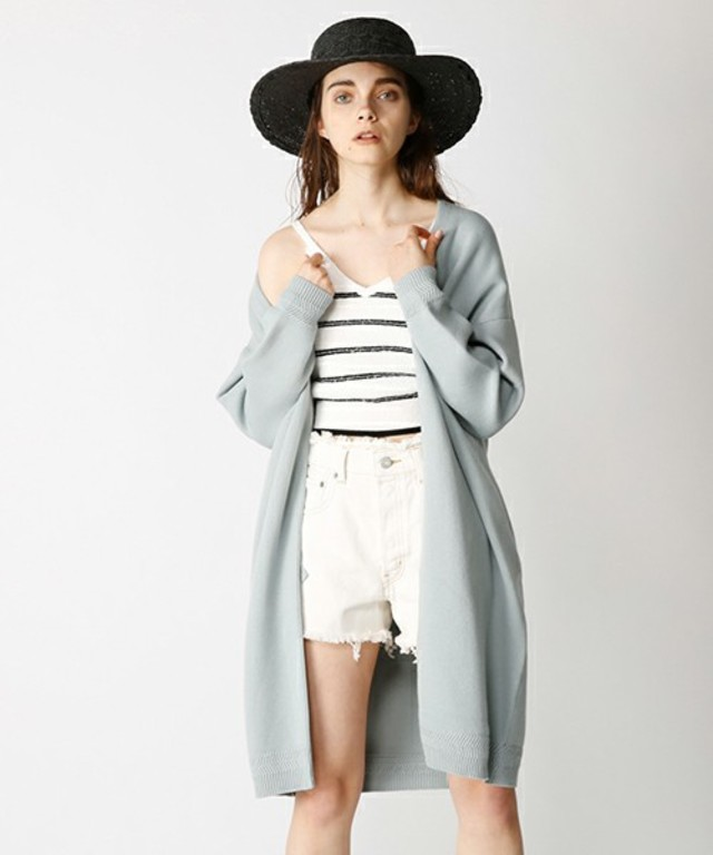 MOUSSY OVERSIZED LONG CARDIGAN