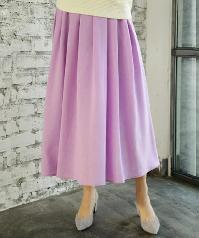 キレイ色ロングギャザーフレアスカート