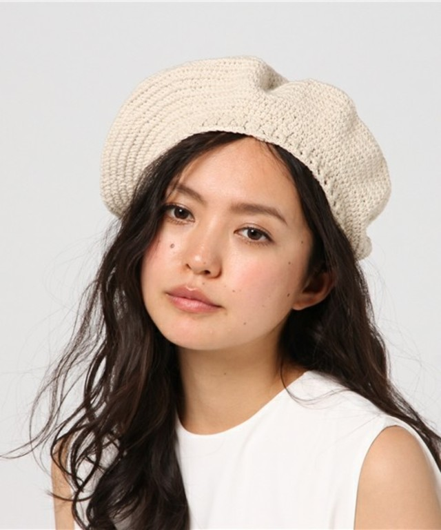 BEAMS BOY 細編みベレー帽