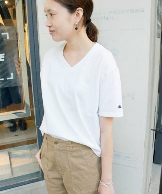 CHAMPION 別注 HVW VネックTシャツ