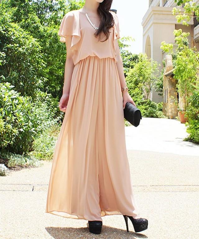 Fashion Letter オールインワン ワイドパンツドレス