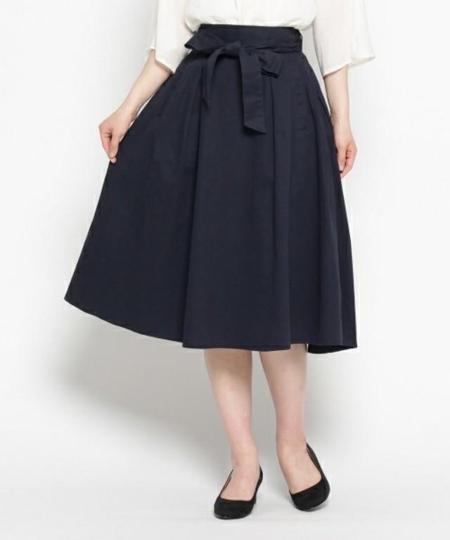 Dessin ミモレ丈フレアスカート