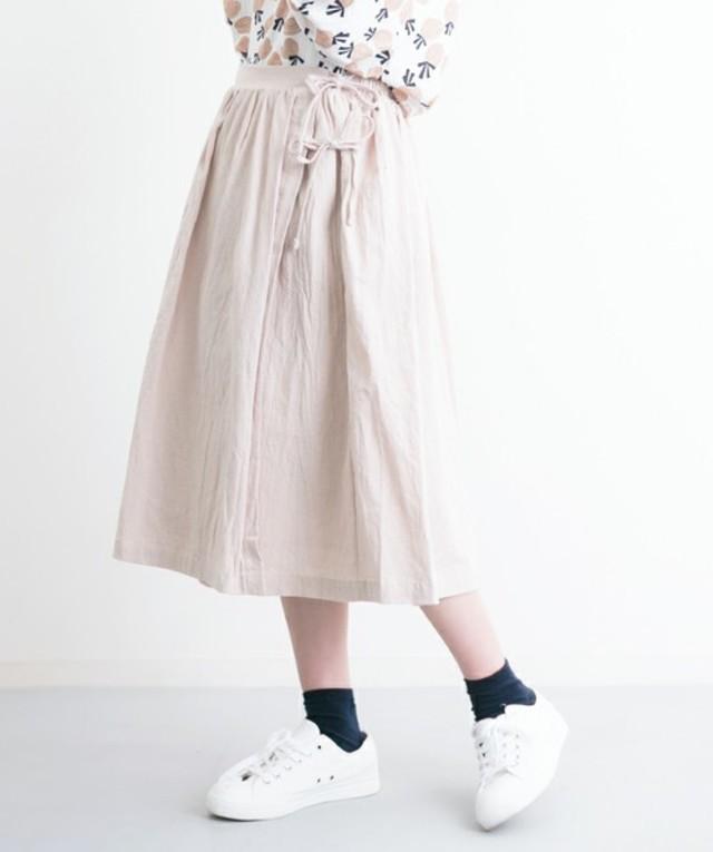 merlot リボン結びラップスカート2274
