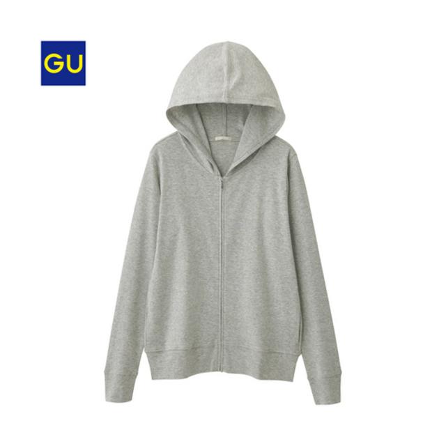 (GU)UVカットフルジップパーカ(長袖)