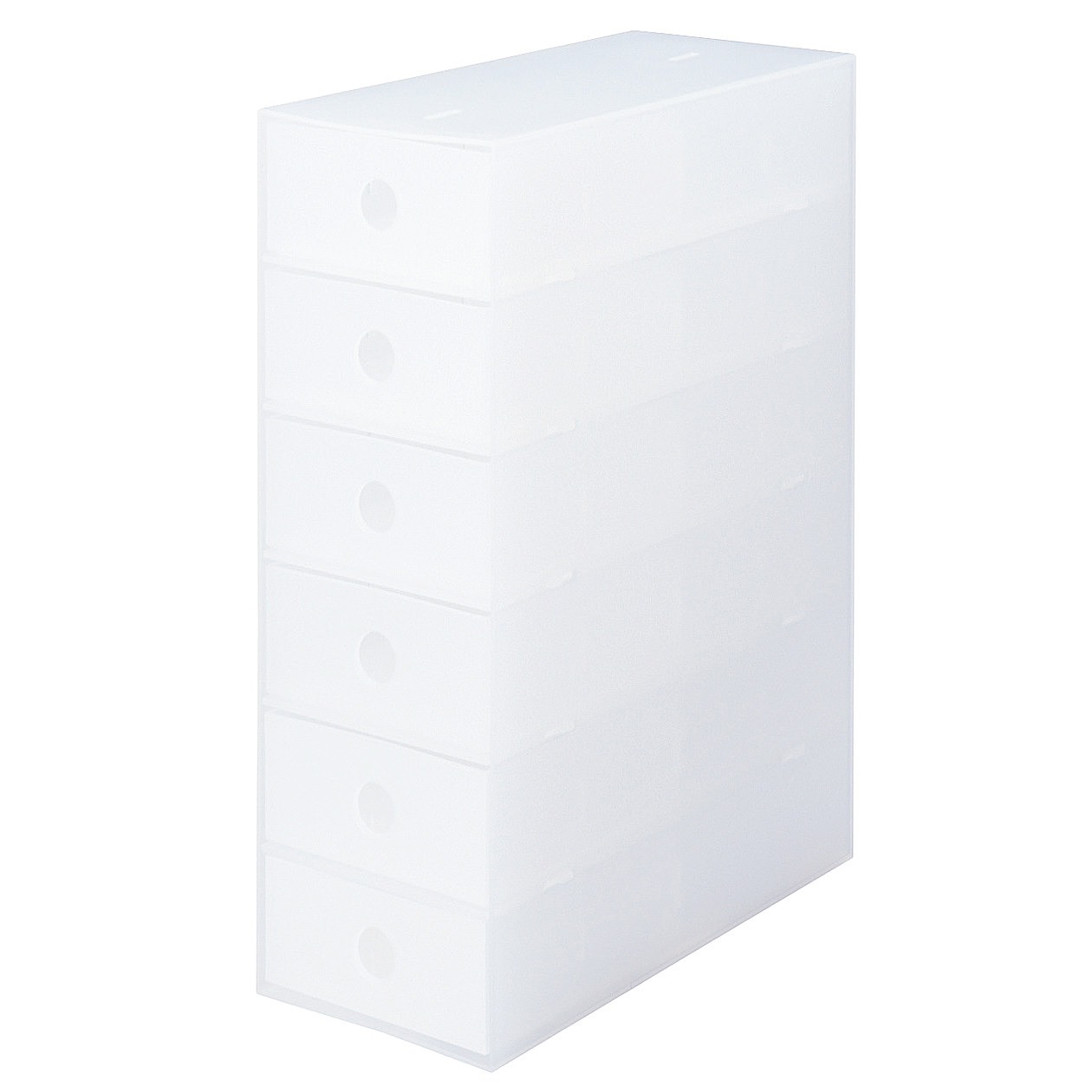 ポリプロピレン小物収納ボックス6段