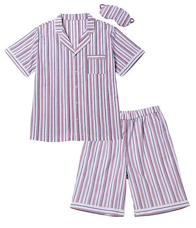 メンズサマーシャツパジャマセット