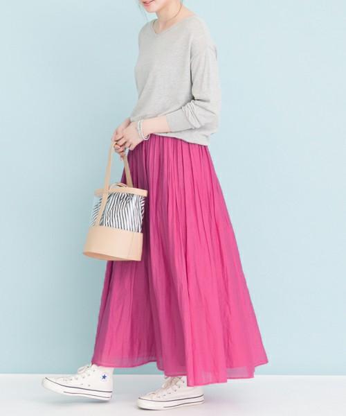 URBAN RESEARCH UR コットンシルクギャザースカート