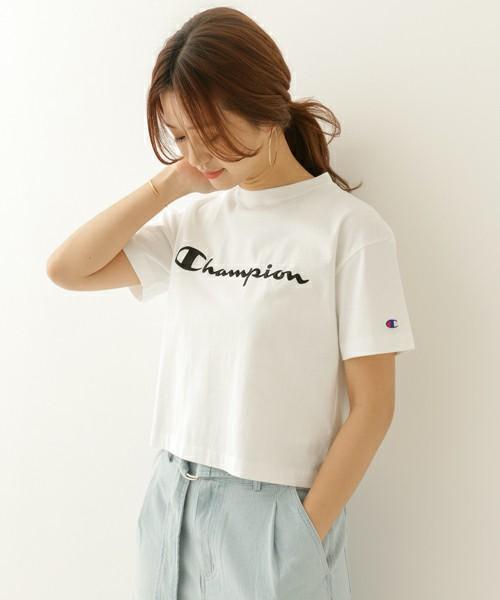 CHAMPION 別注 刺繍SHORTBOX Tシャツ