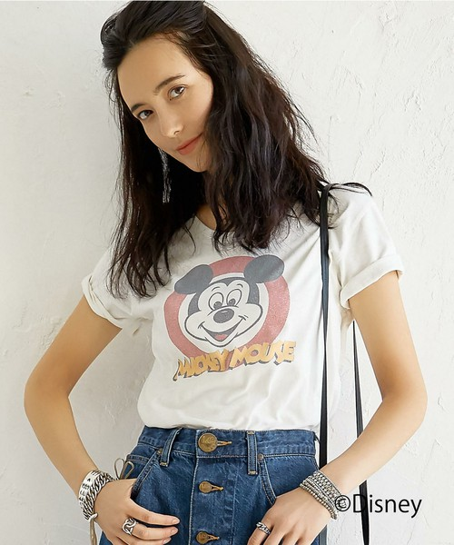 green label relaxing Mickey Tシャツ