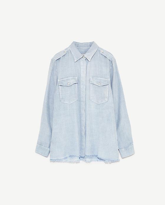 パールディティールシャツ