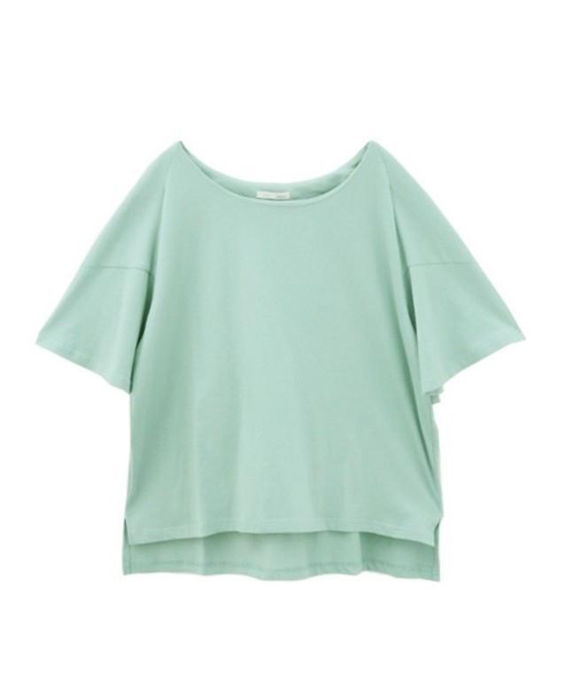 Luz Llena  変形フレアスリーブTシャツ
