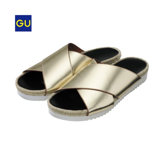 (GU)クロスフラットサンダル