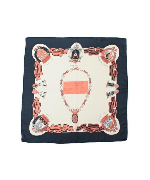 manipuri / 別注 スカーフ フレンチメダルリボンプリント