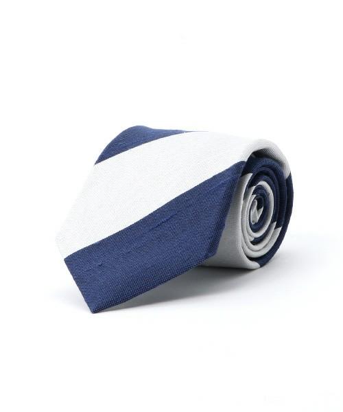Cricket オリジナル 日本製 広幅ストライプ柄ネクタイ