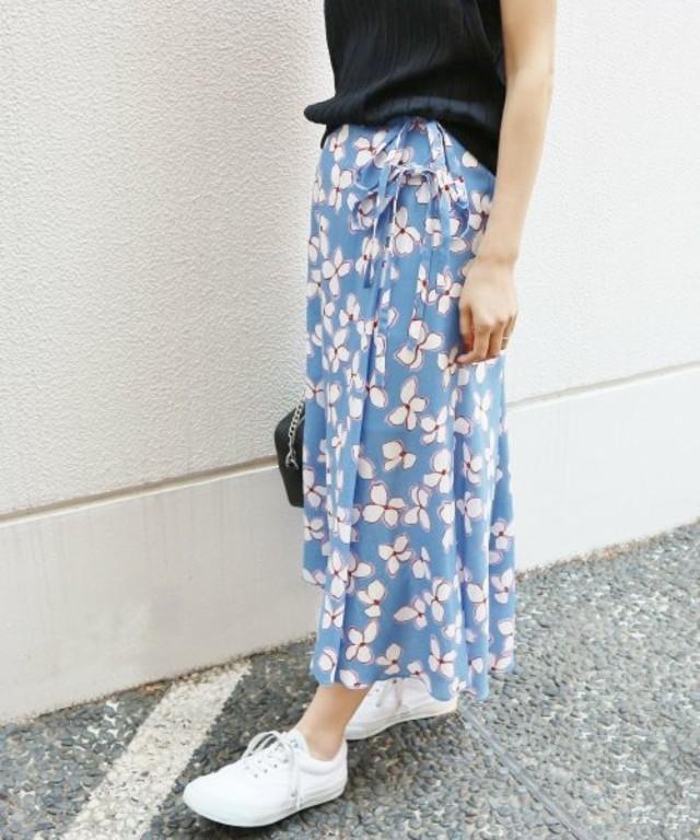 レトロフラワー ラップスカート(IENA)