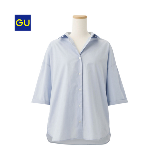 オーバーサイズワイドスリーブシャツ