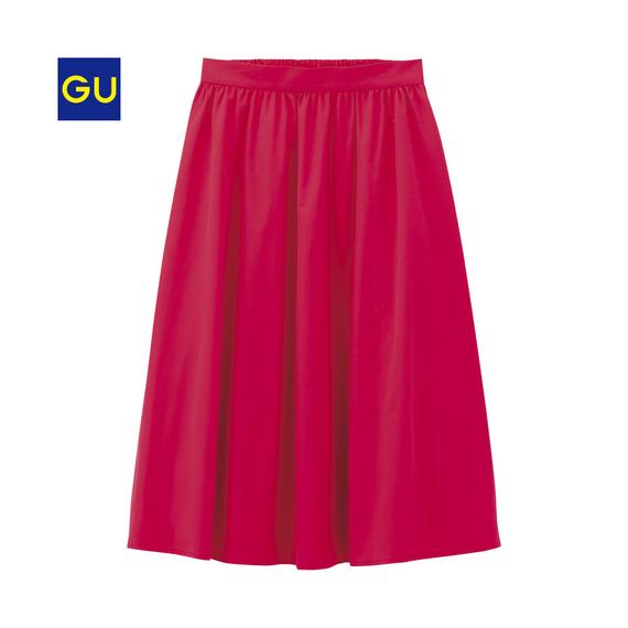 GU イージーカラーフレアスカート