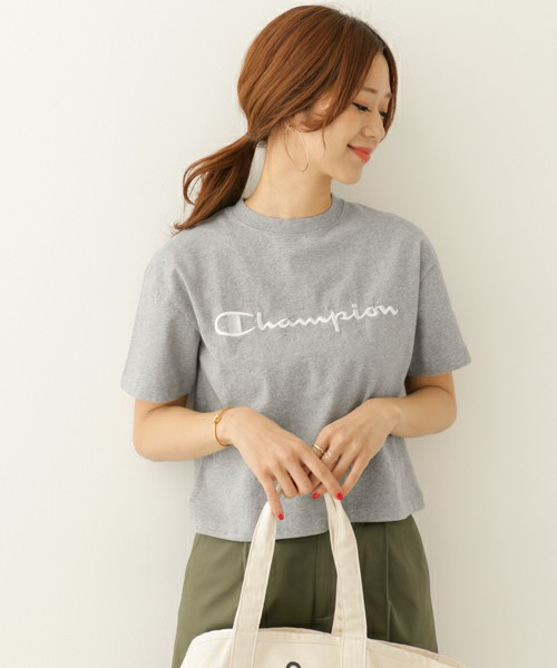 URBAN RESEARCH DOORS / Champion別注刺繍SHORTBOXTシャツ