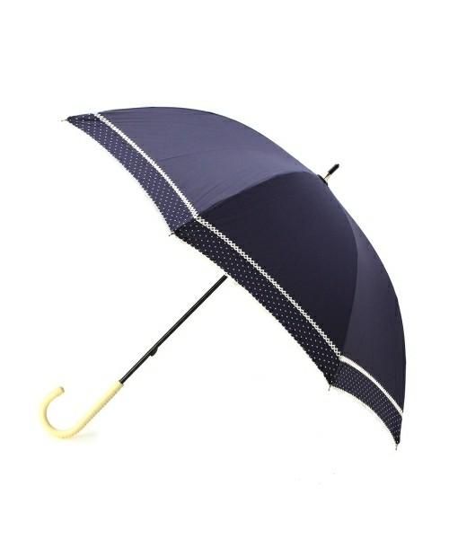 晴雨兼用ピンドットダブルピコレース長傘