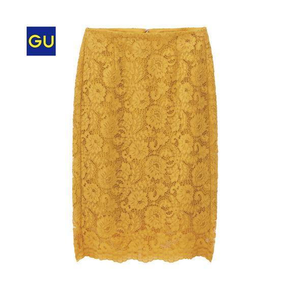 (GU)レースタイトスカート