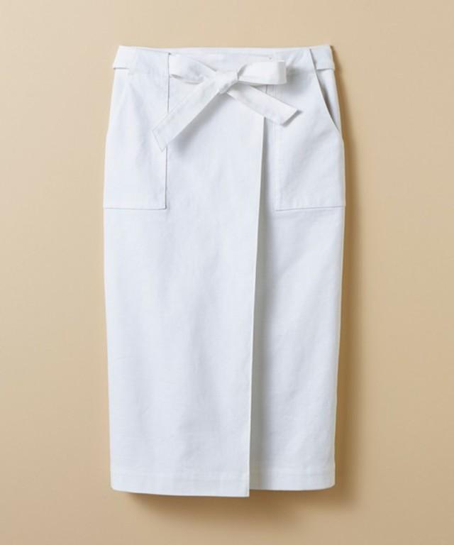 haco! パッと着るだけで女らしくてかっこいい ラップ風スカート by que made me