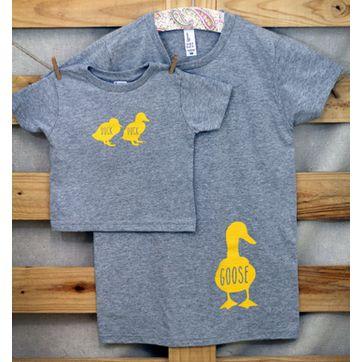 【ママ】半袖Tシャツ「Duck Duck GOOSE」