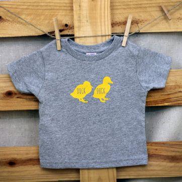 【キッズ】半袖Tシャツ「Duck Duck GOOSE」