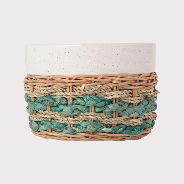 シーグラス 鉢カバー3号用 ブルー
