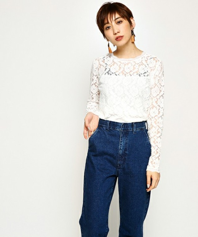 MOUSSY LACE LAYERED TOPS