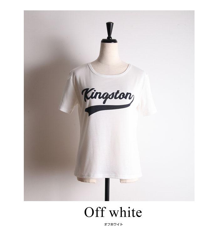 ①Logo print T shirt