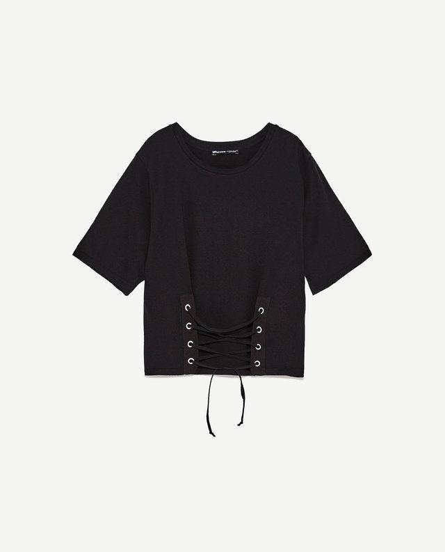 フロントコルセットTシャツ
