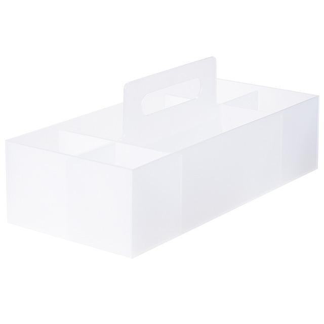 ポリプロピレン収納キャリーボックス・ワイド 約幅15×奥行32×高さ8cm
