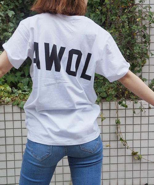 1975 tokyo 'AWOL 'バックロゴTシャツ