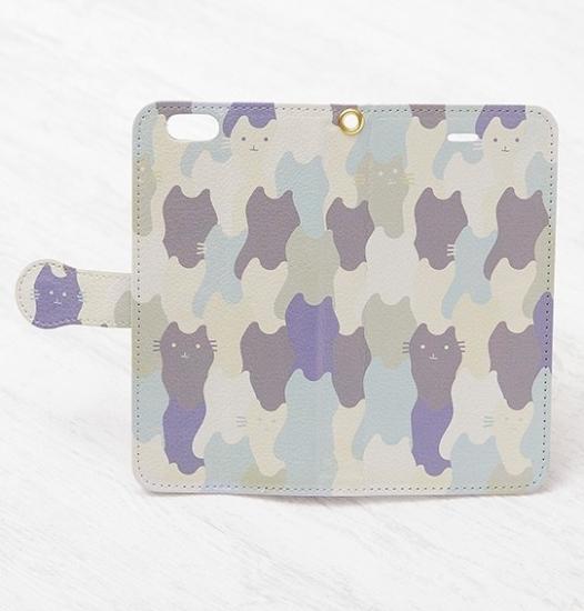猫の手帳型スマホケース【ネコパターン】クールボーイ